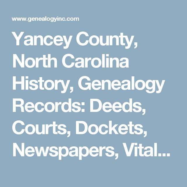 yancey county nc marriage records