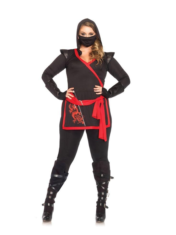 Sexy Ninja Assassin Adult Womens Plus Size Costume - 346950