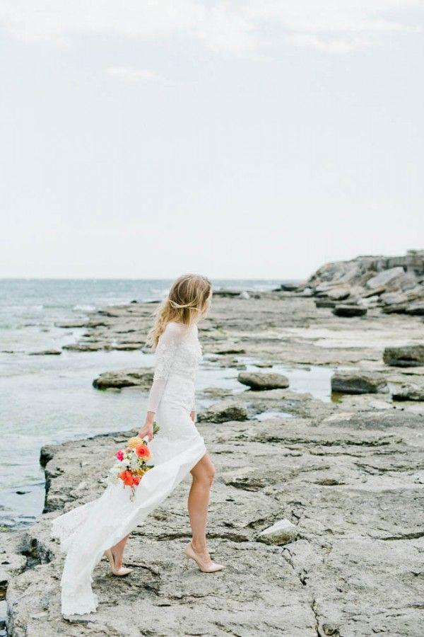 Ethereal Ida Lanto wedding dress   Photo by Sara Norrehed Photography