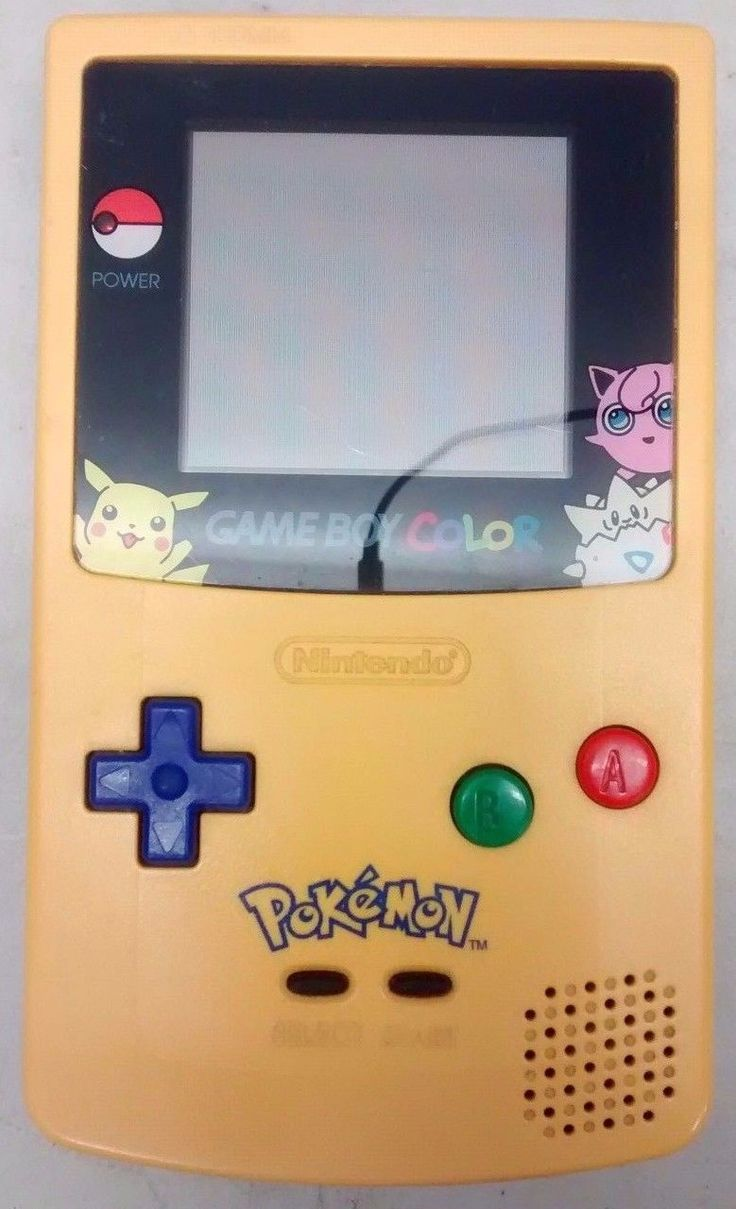 Game boy color kaufen - Nintendo Game Boy Color Limited Edition Pokemon Pikachu Console Yellow 78 35 End Date Friday