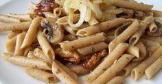 Macarrones con champiñones y nueces | La Cazuela Vegana