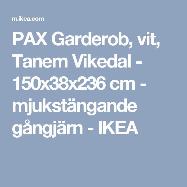 PAX Garderob, vit, Tanem Vikedal - 150x38x236 cm - mjukstängande gångjärn - IKEA