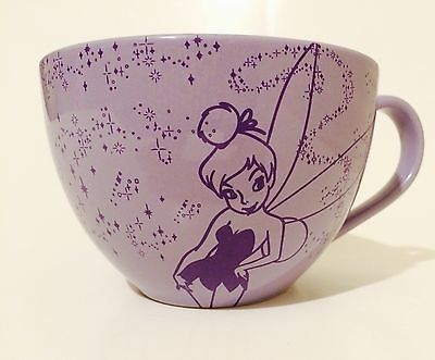 Disney Store Tinkerbell Tink Oversized Purple Coffee Cup/Soup Mug