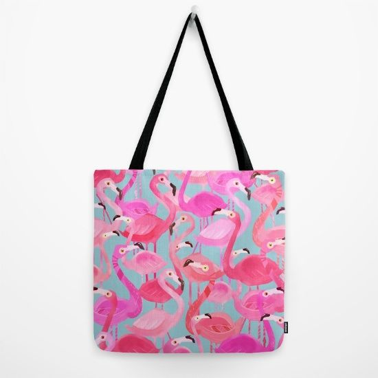 https://society6.com/product/flamingo-pattern-grey_bag?curator=bestreeartdesigns. $24