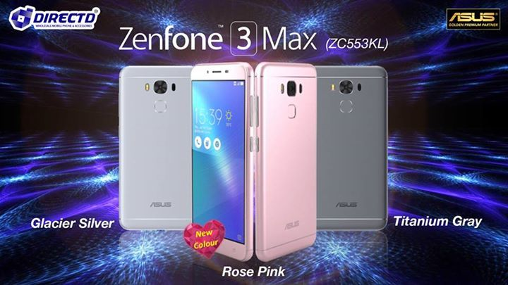 """NEW COLOUR!   Asus Zenfone 3 MAX ZC553KL (5.5"""" HD display) is now available in Rose Pink colour - perfectly in time for the upcoming Valentine's Day!  Price is only RM899 inclusive of GST. Original set comes with a 1 year warranty by ASUS Malaysia.  DirectD - Asus Malaysia's Golden Premium Partner & Authorized Concept Store!  Online order  http://www.directd.com.my/zenfone-3-max-zc553kl  or walk in to any of our outlets below:  DirectD Gadget Mega Store Lot 11, Jln 51A/219, PJ (next to Mazda…"""