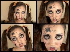 Disfraz Facil de Halloween: Muñeca de porcelana Rota! Creepy Broken Doll - YouTube