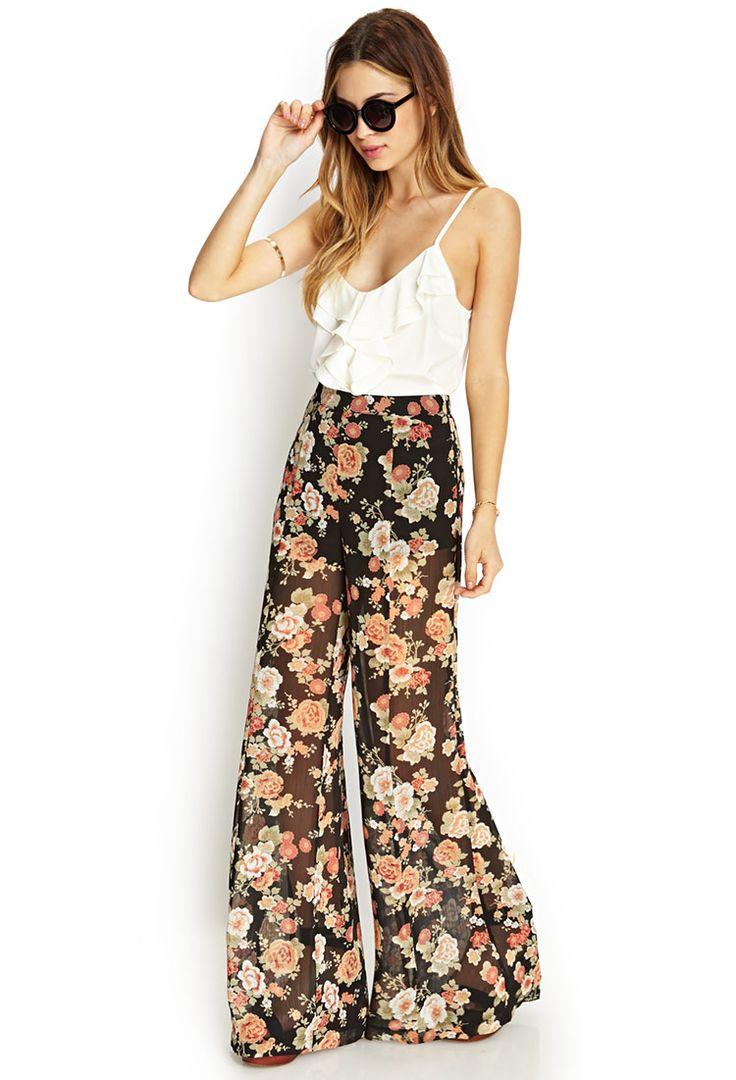 Floral Print Wide-Leg Pants | I love me some comfy fashionable pants!!