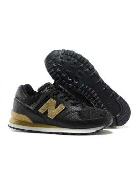 New Balance 574 Noir Et Or