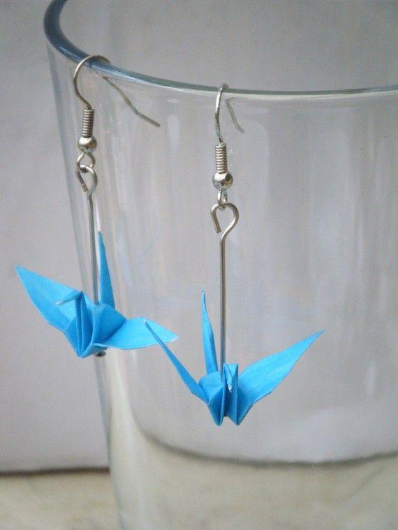 boucles d'oreilles origami