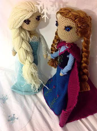 Anna Frozen Crochet PATTERN by SarahBethsBoutique on Etsy