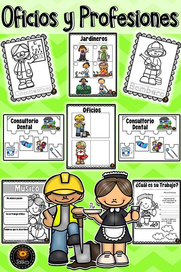 Oficios Y Profesiones Language Study Homework Resources Busy Teacher