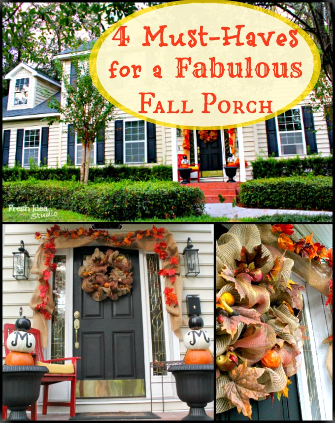 "DIY- ""4 must haves for a Fabulous Fall Porch"" ! These Are Inexpensive and Truly Fabulous"