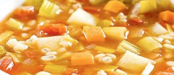 Recette : Soupe aux légumes et à l'orge à la Mijoteuse.