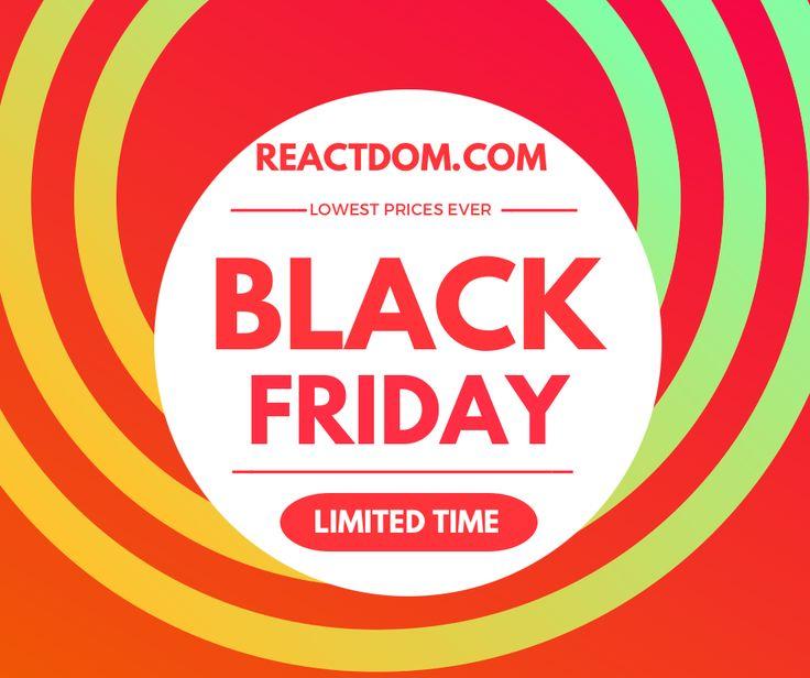 Black Friday Developer sale!  Every tutorial upto 93% OFF! #blackfriday #cybermonday #webdev #coding #fronteend #webdesign #javascript #python  #programming  https://reactdom.com/blog/black-friday