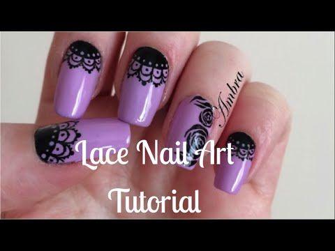 Lace Nail Art | Nail Art Effetto Pizzo Tutorial || Amber Nails - YouTube