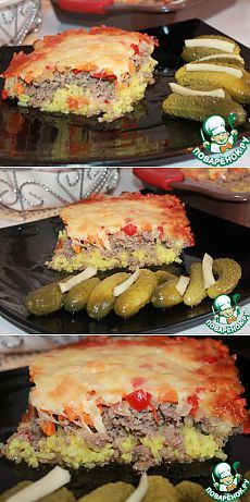 Запеканка мясная с рисом и овощами - кулинарный рецепт