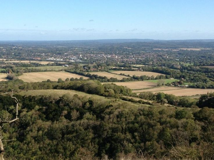 View from #butser of #petersfield ...