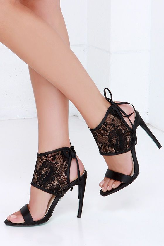 1000  ideas about Black Lace Heels on Pinterest  Black lace shoes