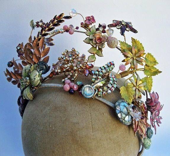 Vintage bride crown