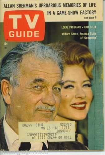 Cleveland TV Guide 6 12 1965 Gunsmoke Milburn Stone Amanda Blake Janet Margolin   eBay