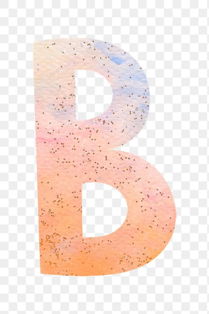 Letter B Colorful Typography Png Free Image By Rawpixel Com Marinemynt Lettering Alphabet Letter B Free Png
