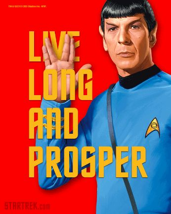 Live long and prosper. R.I.P. Leonard Nimoy ❤️