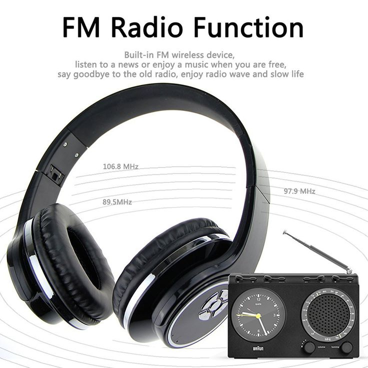==> [Free Shipping] Buy Best Stereo HiFi Headset Wireless Bluetooth Headphone Music Earphone Support TF card FM Radio With Mic For iPhone Xiaomi Samsung PC Online with LOWEST Price | 32822987744