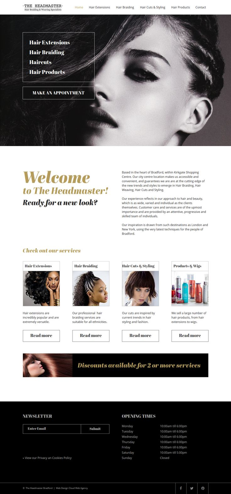 This is a website we have just created for a local company in Bradford.  The company specialise in hair weaving, hair extensions and hair braiding.  #website #design #salon #hairsalon