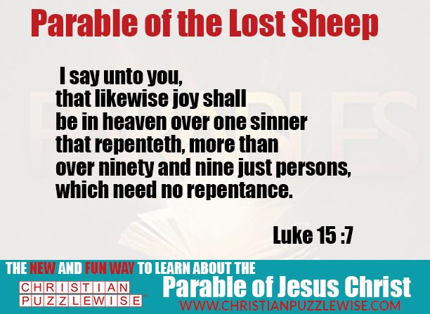 Luke Chapter 15 : 2 -7
