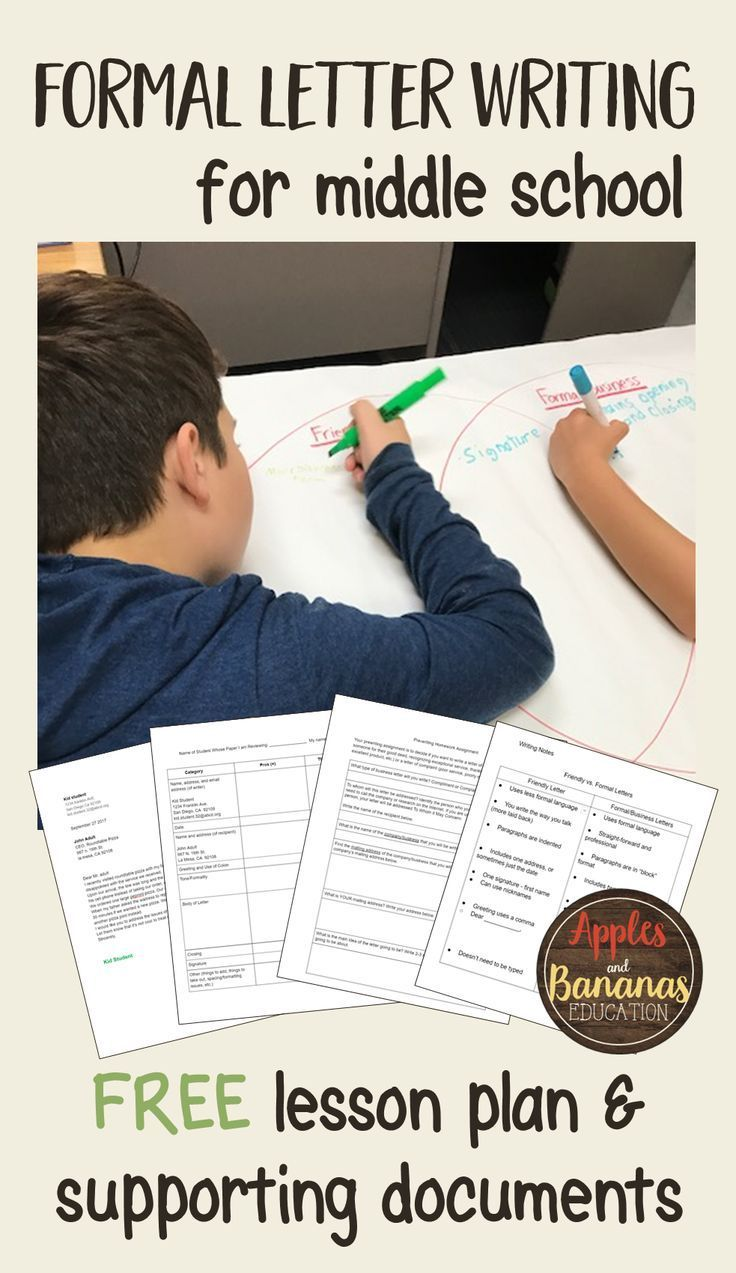 letter template peer review form and graphic organizers are included writingactivities middleschoollessons