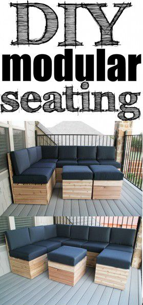 DIY Modular Sectional Seating With Free Plans