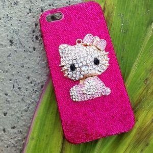 iPhone 5 case - 3D hello kitty on sparkly case. Price: $25 Size: iPhone 5  https://poshmark.com/closet/mfbeauty