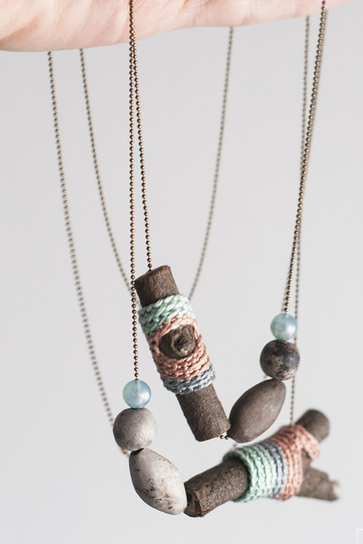 Jewelry maker Ingrid Cano integrates driftwood and other natural materials to create modern, one-of-a-kind designs.