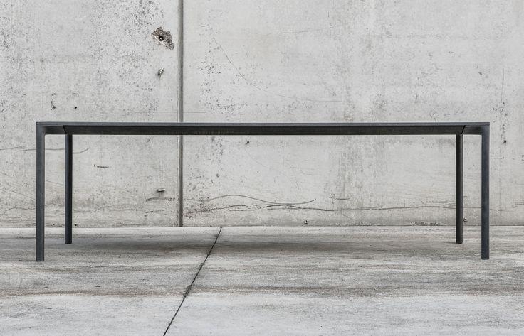Tavolo moderno / rettangolare / 100% riciclabile - BOIACCA by Lucidi Pevere - Kristalia - Video