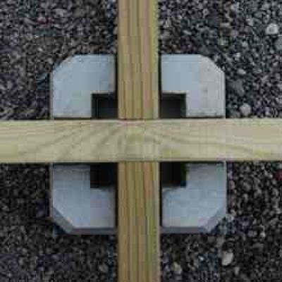 Wrekin concrete products decking block home construction Floating deck cinder blocks