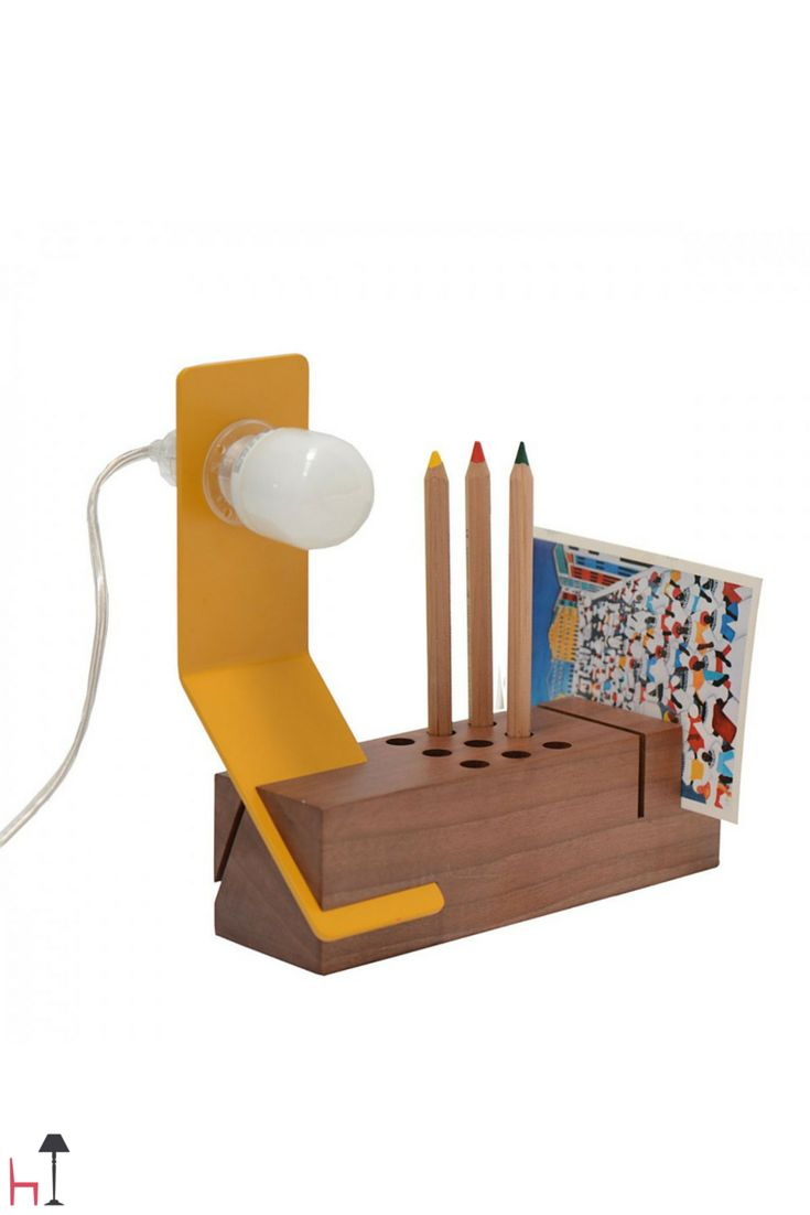The Edi lamp will light up long hours of games and homeworks in a graceful yet playful fashion.