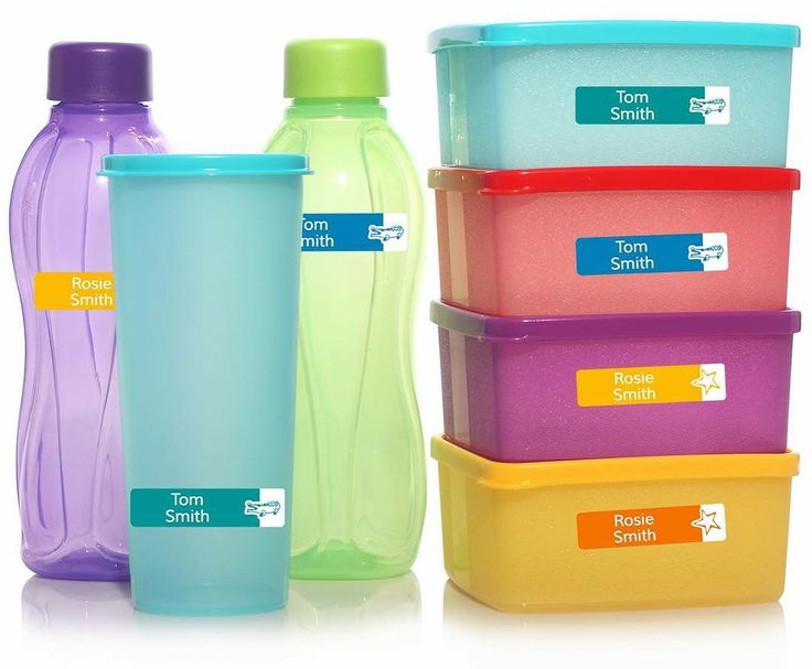 Stop losing lunch boxes and drink bottles with our waterproof and dishwasher resistant Medium Stick on labels