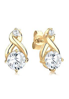 Goldhimmel Ohrringe »925 Sterling Silber vergoldet Infinity Zirkonia« im OTTO Online Shop