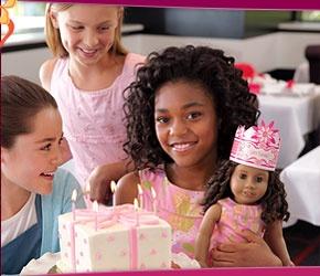 American Girl birthday party info