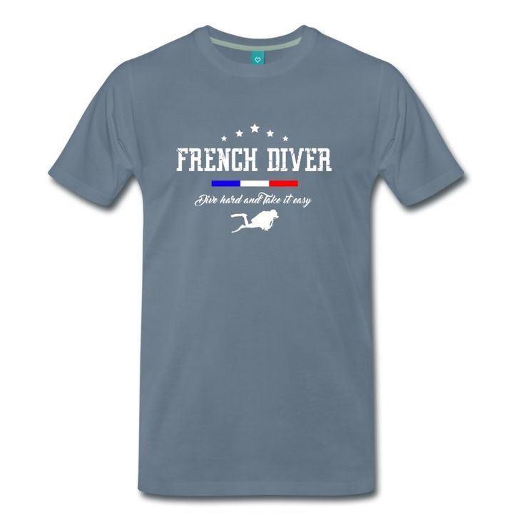 T-shirt French Diver ! Chez Scub'Toujours www.t-shirt-plongee.com  #tshirt #plongée #scuba #diving #french #shopping