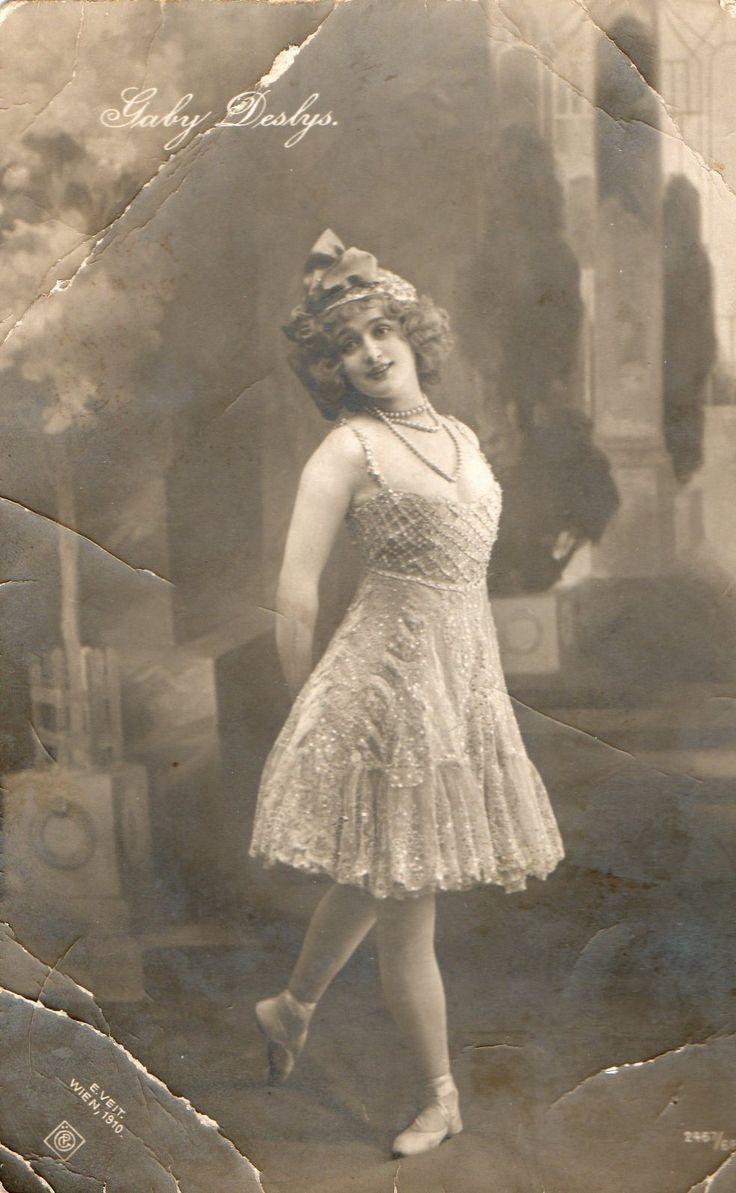 Dancer and actress Gaby Deslys. Austrian postcard. 1910
