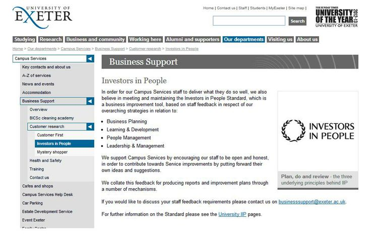 University of Exeter and Investors in People