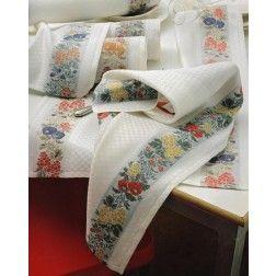 Asciugapiatti artigianale in misto lino/cotone modello Settembre