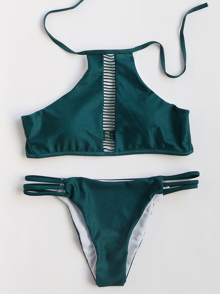 Shop Dark Green Ladder Cutout Bikini Set online. SheIn offers Dark Green Ladder Cutout Bikini Set & more to fit your fashionable needs.