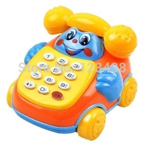 Небольшие Подвижные Пластиковые Электронная Музыка Многофункциональный Сотовый Телефон Телефон Игрушки Музыкальные инструменты для Детей Baby, размер = 6*7*8 см