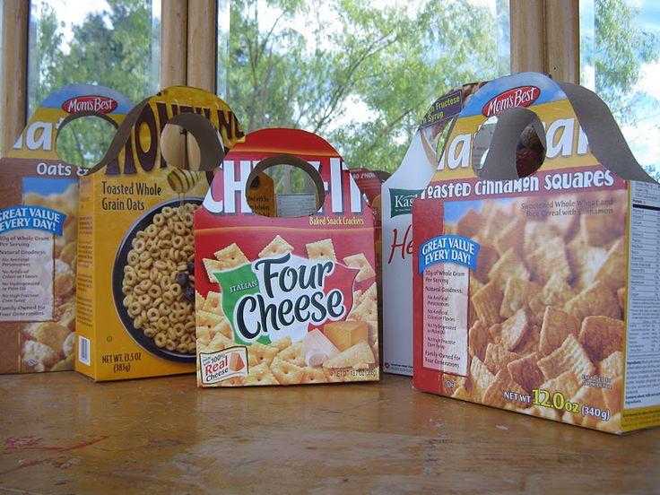 Panier boîte de céréales