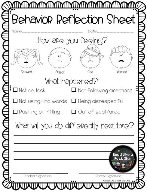 I believe it is equally as important to follow up with the student through a reflection sheet.