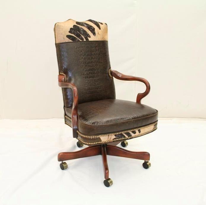 Rustic Desk Chair|Western Desk Chair|Western Office Chair|Rustic Office Chair|Made in the USA|Anteks Home Furnishings