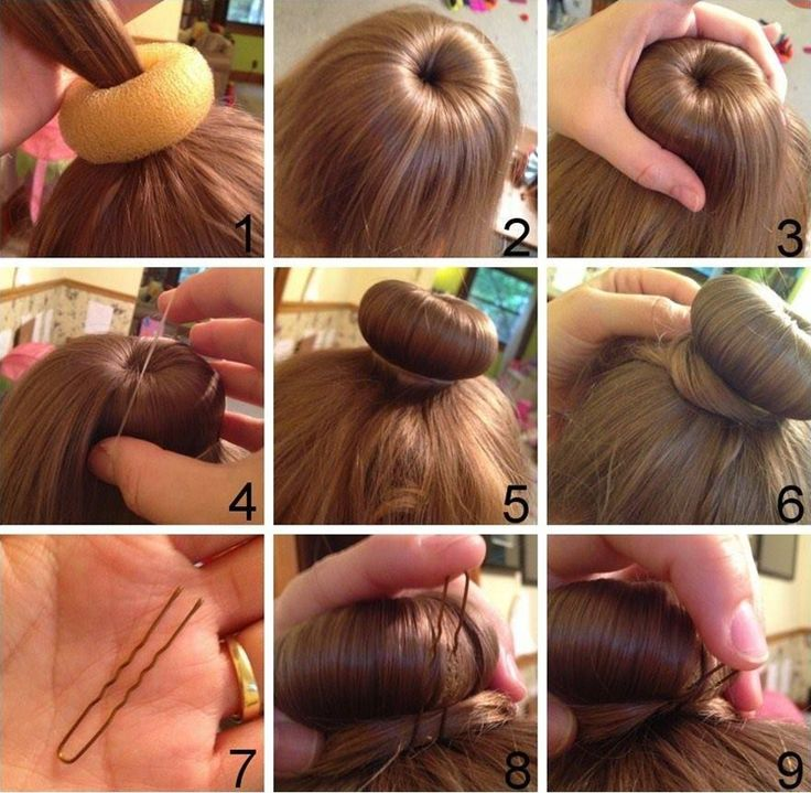 This is How You Can Do a Donut Hair Bun in the Easiest Way - http://www.stylishboard.com/can-donut-hair-bun-easiest-way/