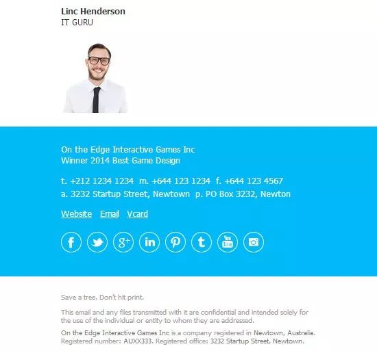 Best Email Signature Images On   Business Emails